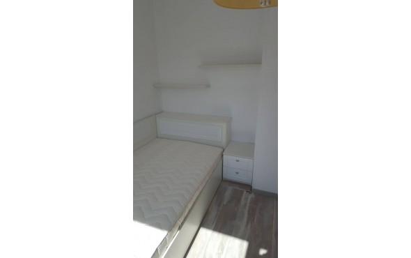 Легло с ракла и нощно шкафче с МДФ детайли