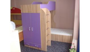 Двуетажно легло с бюро Милка