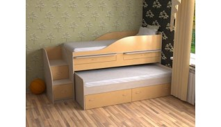 Двуетажно легло сандвич Сали