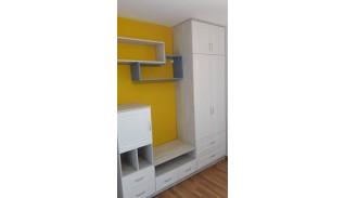 Секционен шкаф за детска стая с лице от МДФ