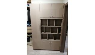 Шкаф библиотека за дневна дъб винтидж/капучино