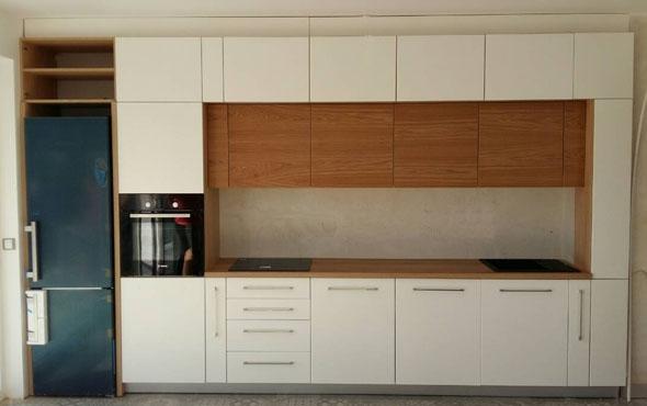 Кухня по индивидуален проект Фара 15 фурнирован МДФ