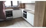 Кухня без дръжки Дъб Халифакс/бял гланц