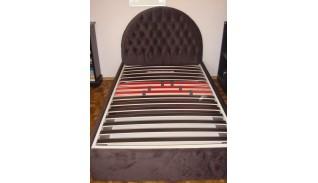 Тапицирано легло Рита с капитонирана заоблена табла