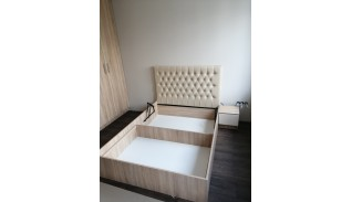 Легло Бардолино с тапицирана табла